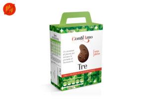 Tre frollino con gocce di cioccolato extradark