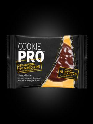 Cookie Pro all'Albicocca ricoperto di cioccolato fondente x24