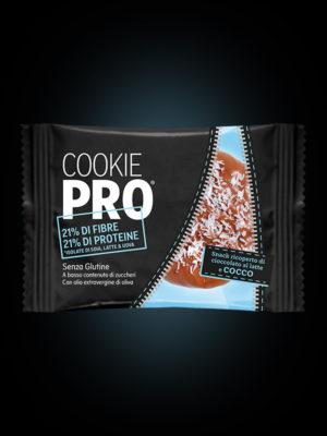 Cookie Pro ricoperto di cioccolato al latte e cocco x24