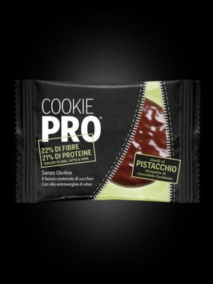 Cookie Pro al Pistacchio ricoperto di cioccolato fondente x24